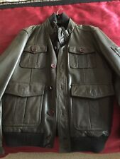Men's Austin Reed Brown Leather Jacket - Size Small- VGC
