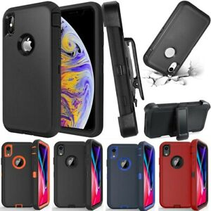For iPhone XR XS MAX Heavy Duty Defender Shockproof Cover Case With Belt Clip