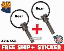 Guntec USA 2 Pack Rear take down pin swivel ring CA for fast open flip top223556