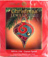 Mill Hill Cross Stitch Bead Kit Christmas 'Garnet Spiral' Jewels 16-1304
