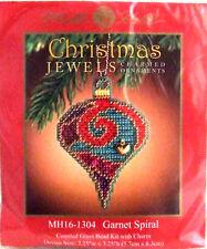 Mill Hill Cross Stitch Bead Kit Christmas 'Garnet Spiral' Jewels 16-1304