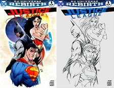 Justice League #1 Aspen Exclusive Michael Turner Color and B&W Set Signed DC