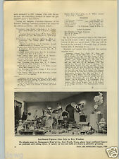 1929 PAPER AD Montgomery Ward Fort Worth Texas Store Window Display Toys Dolls