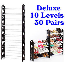 Shoes Rack Shelf Organizer New IKEA Style 10 Tier Levers 30 Pairs