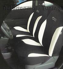 FODERE FODERINE COPRISEDILI AUTO NERE SU MISURA FIAT 500 2007> complete