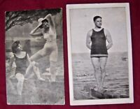 "Vintage Postcard ,Swimming Suits.""Jolly Bathers""Catalina Island Deep Sea Diver"