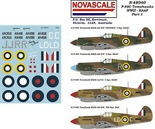 RAAF P-40C Tomahawk WWII Decals 1/48 Scale N48040
