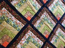 Stunning modern handmade patchwork quilt/throw, bright colours, contemporary