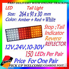 12v 24v LED Tail Light UTE Trailer Caravan Stop Tail Indicator Reverse Reflector