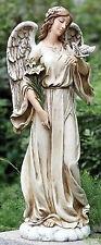 """24.5"""" Angel on Cloud Holding Dove Outdoor Garden Statue Joseph's Studio # 63653"""