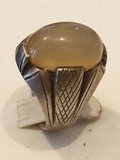 Sterling Silver Solid Agate Ring