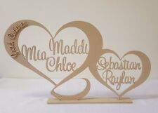 Personalised custom Heart family home gift wooden letters sign