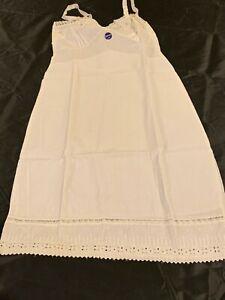 New Vintage 1960s White Full Slip Aristocraft Size 34