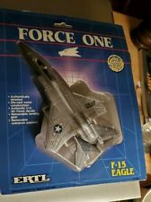 1989 ERTL Force One F-15 Eagle Model Plane Die Cast Metal