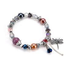HS Damen Armband Armkette Armschmuck Modeschmuck mit Libelle Änhanger Geschenk