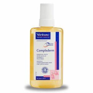 Virbac Complederm Skin Supplement Dog Cat Pet Balanced Mix of Fatty Acids, 250ml