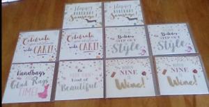 10 x greetings cards 12.5cm x 12.5cm new in packs