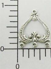 26674          4 Pc Matte Silver Oxidized Victorian Jewelry Connector Finding