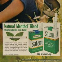 ADVERTISEMENT CIGARETTES, SALEM, R. J. REYNOLDS TOBACCO CO. 1972