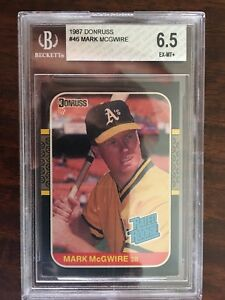 1987 Donruss Mark McGwire RC#46(6.5)/1990 Donruss JuanGonzalez RC REV NEG#33A(7)