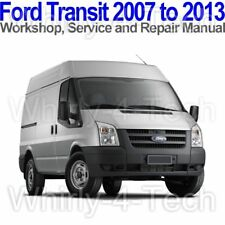 Ford Transit 2007 to 2013 Workshop, Service and Repair Manual on CD