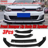 Carbon Fiber Front Bumper Chin Lip Lower Spoiler for VW Golf 7 VII MK7 GTI