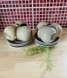 Denby Viceroy Coffee Cups And saucers