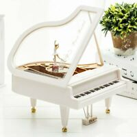 Piano Shape Music Box Dancing Ballet Classical Crafts Ornaments Toy Decor Gift