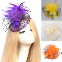 Lady Women Handmade Fascinator Hair Clips Lace Wedding Party Dress Accessories