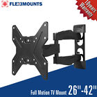 FULL MOTION TILT & SWIVEL LED LCD TV WALL MOUNT BRACKET 26 27 32 36 37 40 42 IN