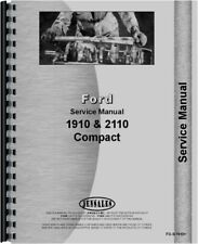 Ford 1910 2110 Compact Diesel 2 Amp 4wd Tractor Service Repair Manual