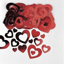 Red Hollow Cut Out Heart Confetti Valentines Party Decorations