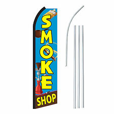 SMOKE SHOP - Advertising Sign Swooper Feather Banner Flag & Pole Only