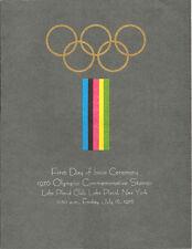 #1695-98 First Day Ceremony Program 13c Lake Placid Olympics