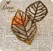 20 Pcs Vintage Style Antiqued Leaf Metal Bead Charm Bronze Color