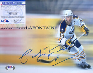 Hof Sabres Legend Pat Lafontaine Signed PSA Certified Buffalo Sabres 8x10