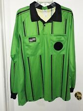 Gently Used Green Soccer Referee Jersey Long Sleeve-Size L-Official Sports
