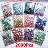 2000x 2mm Crystal Flat Back Acrylic Rhinestones Gem bead 21 Colors Wholesale