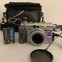 Canon PowerShot G3 Camera - Silver Strap, Charger, Battery, Bag MW4C