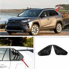 Black Accessories Rear Window Side Louvers Vent trim For Toyota RAV4 2019