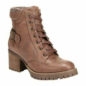 Carlos by Carlos Santana Gibson Women Combat Booties Faux Leather