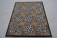 Quality Leopard Multi Print Rug 80cm x 150cm Jungle Safari Animal Print Twist