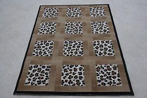 Quality Leopard Multi Print Rug 115cm x 160cm Jungle Safari Animal Print (371)