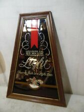 "Vintage Michelob Light Beer 20"" Framed Mirror Sign Poster Beeco Bar Man Cave USA"