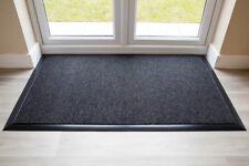 BEST Commercial Brush Entrance Mat Anthracite Rubber Edge 80cm x 120cm UK Floor