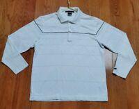 Nike Tiger Woods Collection Dri fit Long Sleeve Polo Shirt Mens Sz Medium White