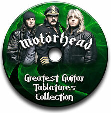 MOTORHEAD HEAVY METAL ROCK CHITARRA INTAVOLATURE CANTO BOOK CD SOFTWARE