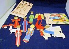 Ravensburger Spiele 1966 Christmas Decorations 13 Paper Figures In Folder