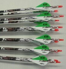 Gold Tip Velocity Hunter 340 Carbon Arrows w/Blazer Vanes Blaze Wraps 1 Dz