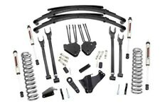 Rough Country 6in Ford 4-Link Lift System w/V2 Shocks 05-07 F-250/350 4WD